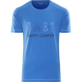 Bergans M's Happy Camper Tee Fjord/Dark Steel Blue/Summersky